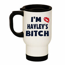 PERSONALISED ANY NAME BITCH WHITE STAINLESS STEEL TRAVEL THERMAL MUG CUP HUSBAND