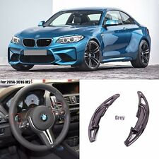 Grey Alloy Steering Wheel DSG Paddle Extension Shifters for For BMW M2 2014-2016