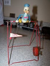 LINEMAR DONALD DUCK GYM TOY Walt Disney Character Acrobat Wind-up trapeze