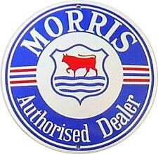 Morris vitreous enamel steel badge 130mm diameter  (jj)