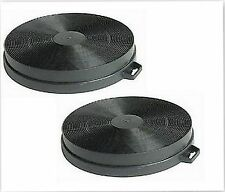 2 x for  Baumatic S1 Carbon Charcoal Cooker Extractor Hood Round Filters