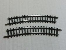 Minitrix N 4986 Trenngleis 2 Stück geb. Schienen    (SB/03/16)