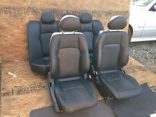 MERCEDES BENZ W203  FRONT AND REAR BOTH SIDES LEATHER SEAT SEATS BLACK