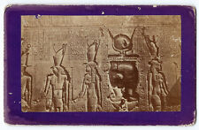Photo cdv Hiéroglyphes égyptiens vers 1880 Egypte Africa Afrique Egypt