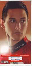 CYCLISME carte  cycliste ALEXANDER PORSEV équipe KATUSHA 2012
