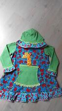 leichtes Patch Kleid Übergangskleid Farbenmix Stenzo Gr..110-116-Giraffe