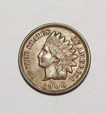 1906 INDIAN HEAD CENT   Nice AU Free U.S. Ship #21 B4