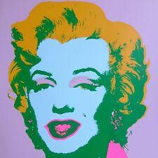 "ANDY WARHOL MARILYN MONROE SUNDAY B.MORNING Silk-screen 11.28 with COA 36""x36"""
