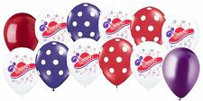 "12pc 11"" Red Hat Society Latex Balloon Happy Birthday Party Red Purple Polka Dot"