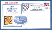 NAVAL COVER USS SANTA FE SSN-763 20TH ANNIVERSARY OF COMMISSIONING