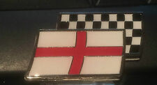 St Georges & Chequered flag car badge MG ZR TF MGF ZS ZT ZTT, Rover sports