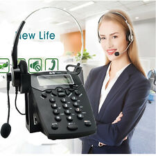 HO Business Telephone  Corded Headset Call Center Phone Dial pad LCD Display NEW