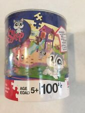 LITTLEST PET SHOP HUSKY WITH A 100 PIECE PUZZLE
