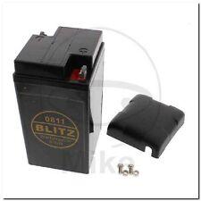 Motorradbatterie 0811 Gel schwarz 6V + Deckel Blitz battery black BMW-R,R50,R50/