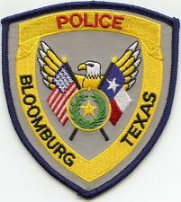 BLOOMBURG TEXAS TX POLICE PATCH