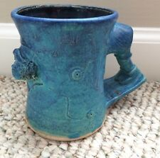 Studio Pottery Michael Kennedy Ceramics Face Sculpture Mug Irish Handmade
