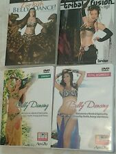 LOT OF 4 INSTRUCTIONAL BELLY DANCING DVDS
