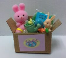 Dollhouse miniatures 1:12 scale handcrafted box Easter Holiday decorations