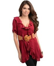L Boho Gothic Emo Goth Renaissance Medieval Pirate Wench Gypsy Top Dress Tunic