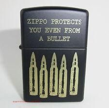 ZIPPO Feuerzeug BULLETS Black matte Patronen Munition NEU OVP Sammlerstück!!