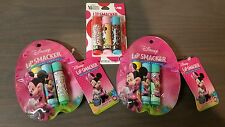 Lip Smacker Disney Minnie Mouse Lot of 9 Glosses Balms Cotton Candy Cupcake etc.