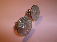 SCOTTISH LION SHILLING COIN CUFFLINKS 1963 - 54th BIRTHDAY