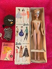 ULTRA RARE Blond #1 Ponytail Barbie Doll W/Box & Accessories  ~ Vintage 1959 ��