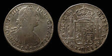 pci1269) SPAIN Carlo IV 8 Reales 1808 Messico T.H. Toned old collection