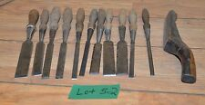 11 All P S & W chisel Peck Stow & Wilcox collectible carver tool lot and mallet
