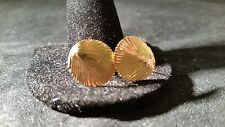 Vintage 14k Solid gold Shell Earrings