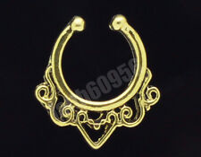 Hot Clip On Septum Fake Nose Hoop Non Piercing Nose Rings Stud Body Jewelry BH14