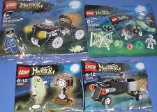 4x lego monstruo fighters! espíritu, quad u. chofer con personaje + accesorios set OVP