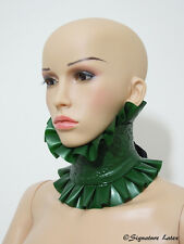 Latex Lace collar in Metallic green