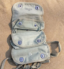 WWII TULSA CANVAS 1945 ARMY 3 POCKET GRENADE POUCH AMMO CARRIER MEDIC PACK VGC