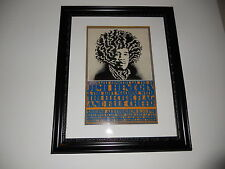 """Large Framed Jimi Hendrix Blue Cheer Electric Flag 1968 Poster RARE 24"""" by 20"""""""