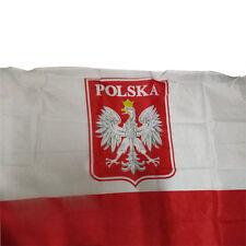 3x5 Poland Flag with Eagle Polish Banner Polska Country Pennant High Quality CN
