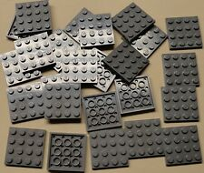 x25 NEW Lego Gray Baseplates 4x4 Brick Building Plates DARK BLUISH GRAY