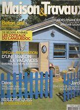 """MAISONS & TRAVAUX N° 226 """"JUILLET 2010""""--BETON CIRE/SPECIAL RENOVATION/COTTEAUX"""