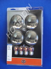 New Harley Davidson smoked flat turn signal lens bulbs touring softail flht flst