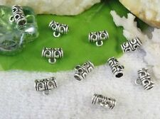 100pcs Tibetan silver tube bail connector FC10546