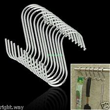 "15PcsSet ""S"" Hook Stainless Steel Storage Hanger Hooks Kitchen Hanging Organizer"