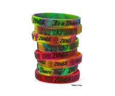 Zumba ~ One Zumba Love Rubber Bracelets - 8 Pack! ~ New! Free Ship!