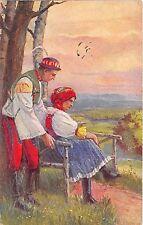 BT2071 les costumes nationaux couple  types czech republic