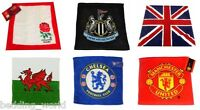 PACK OF 2 FACE CLOTH TOWEL FLANNEL FOOTBALL RUGBY CLUB OFFICIALLY LICENSED GIFTS