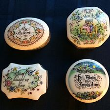 The Melodies of Love Music box collection by Franklin Porcelain 1981