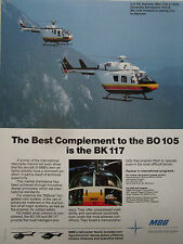 5/1990 PUB MBB HELICOPTERE BO 105 BK 117 HELICOPTER HUBSCHRAUBER HANOVER ILA AD