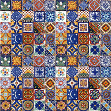 001) SET with 100 Mexican 2x2 Ceramic Tiles Handmade Handpainted Clay Tile