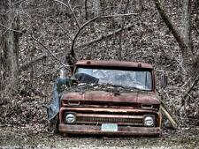 Old Photo. Rusted 1962 Chevrolet Truck