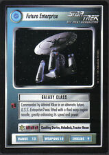 STAR TREK CCG ALTERNATE UNIVERSE ULTRA RARE FUTURE ENTERPRISE
