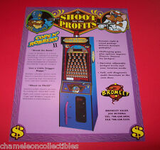 PRIZE TREE COPS N ROBBERS 2  By BROMLEY 1995 ORIGINAL ARCADE GAME FLYER BROCHURE